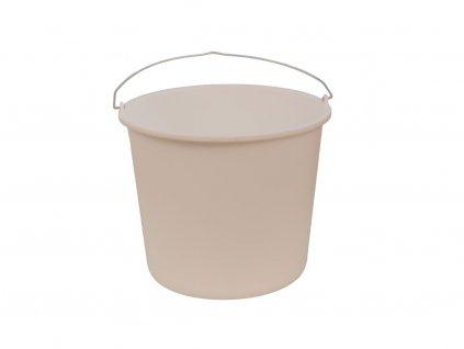 Plastové vedro biele okrúhle 12 Litrov