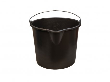 Plastové vedro čierne 2
