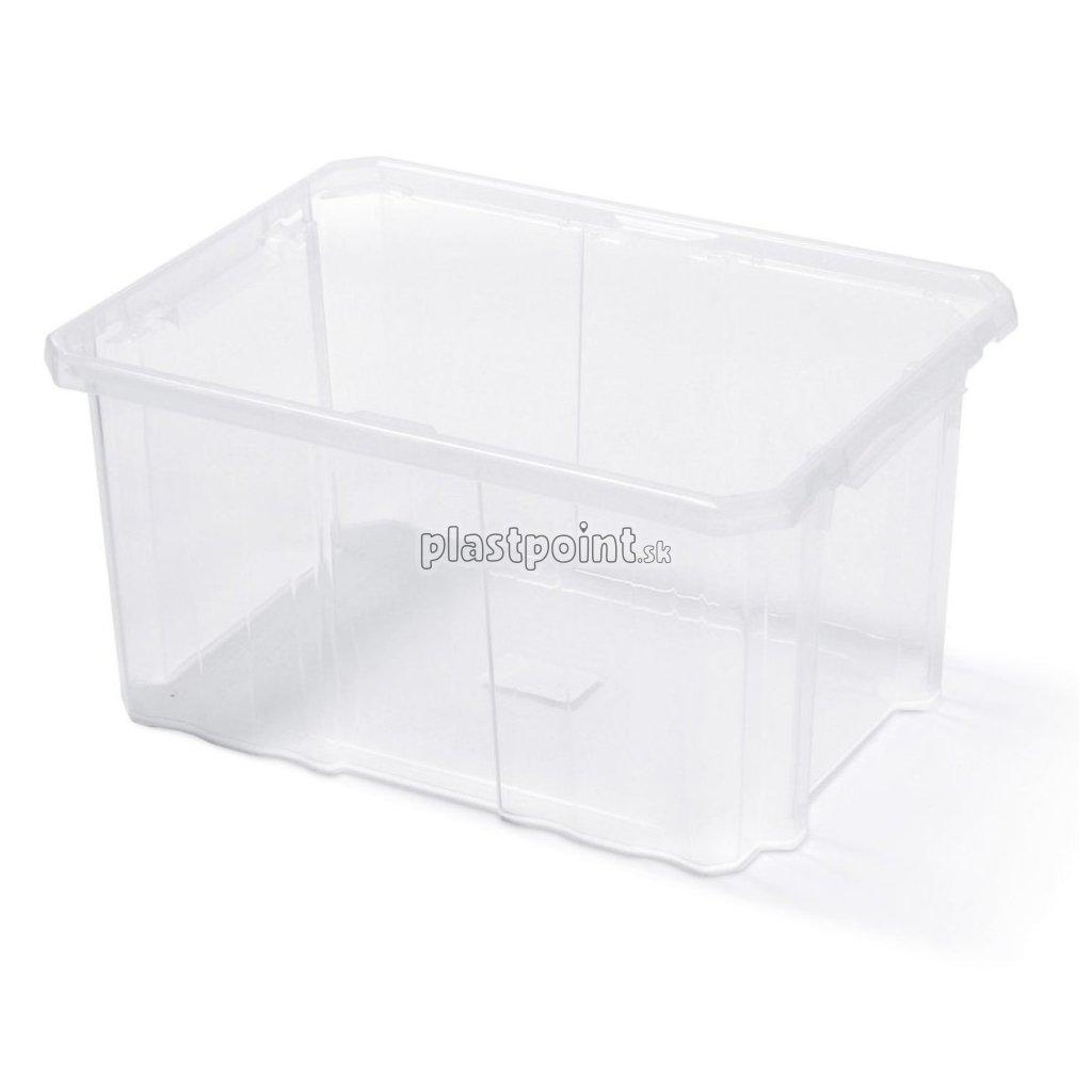 plastovy box ulozny cargobox transparentny 600x400x265