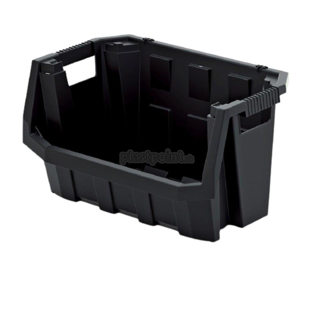plastovy ulozny box truck max 396x290x280 cierny