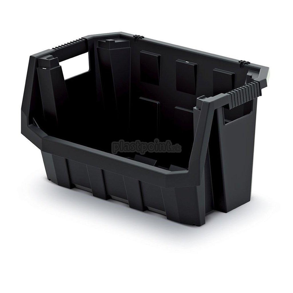 plastovy ulozny box truck max 396x380x282 cierny