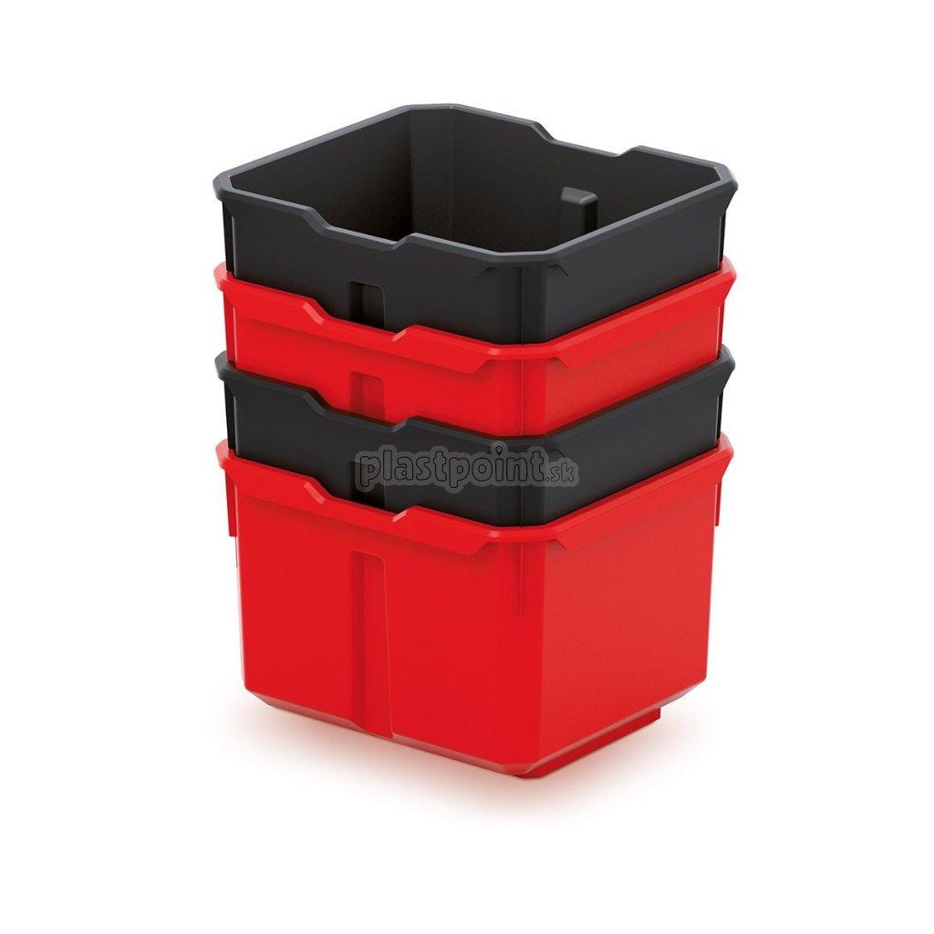sada 4 plastovych boxov na naradie x block box 157x140x210 1
