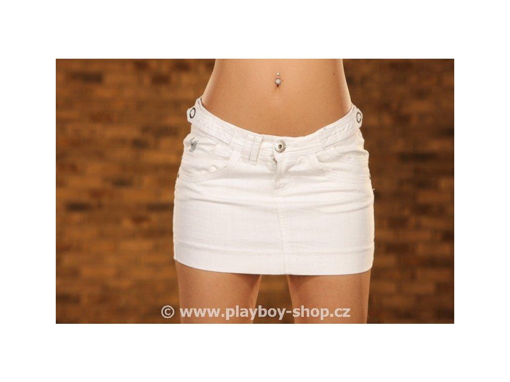 Bílá sukně Playboy