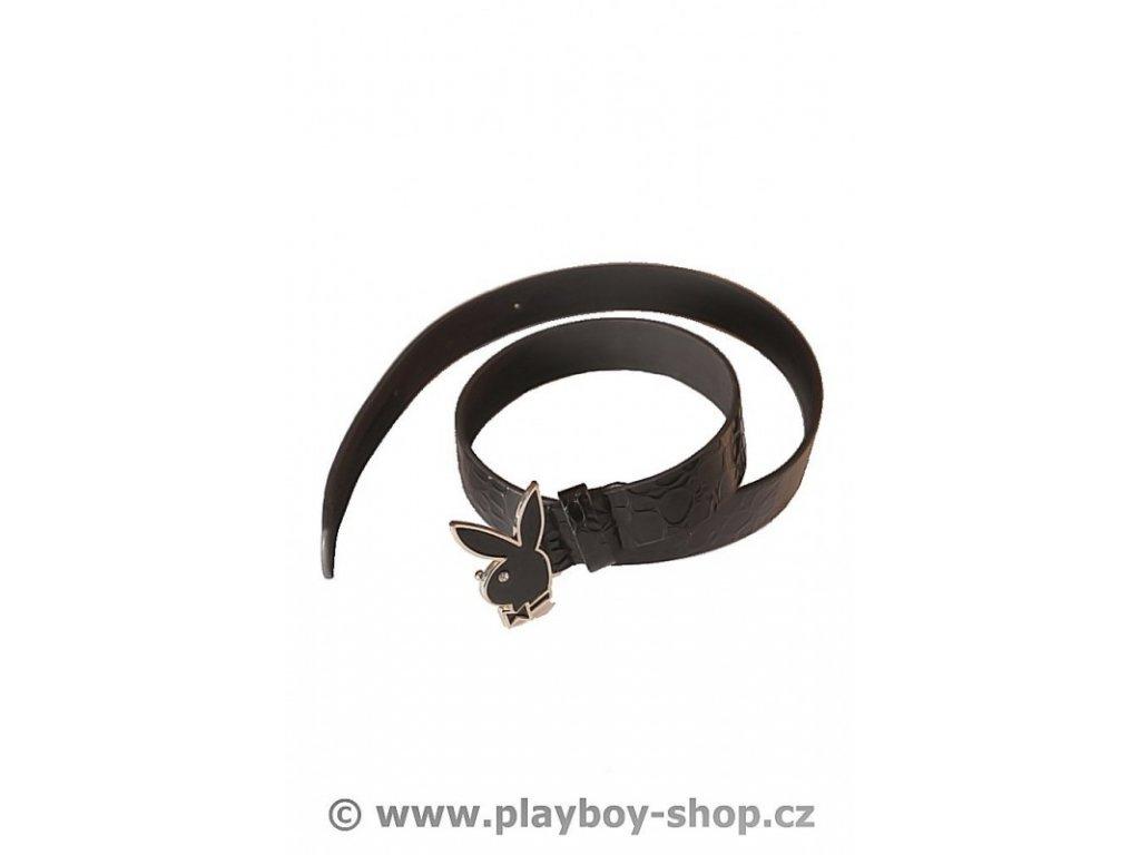 Černý pásek se sponou zajíčka