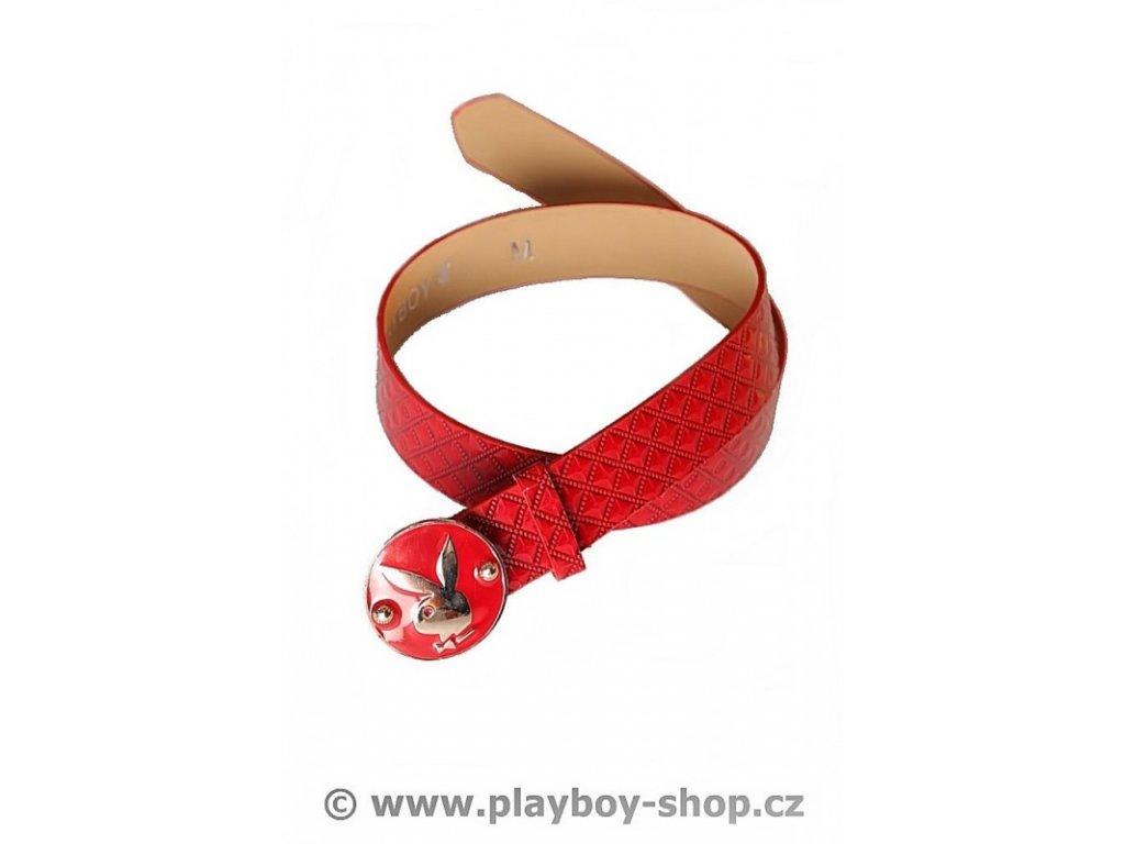 Červený pásek s kulatou sponou