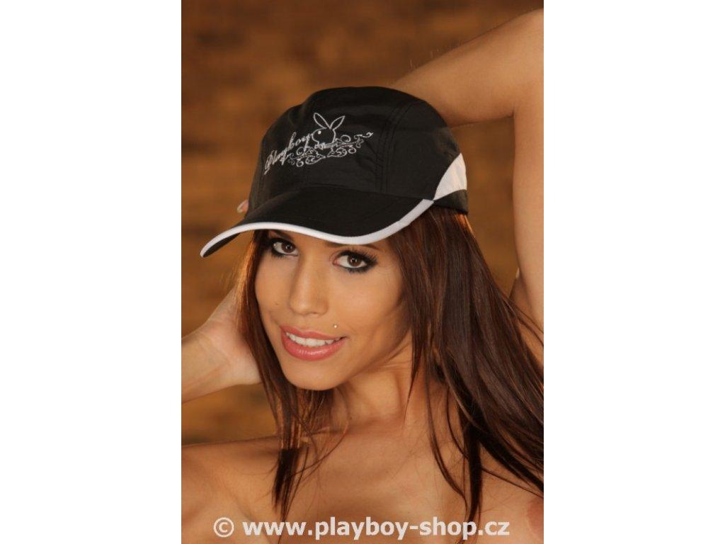 Dámská kšiltovka Playboy s nápisem a zajíčkem