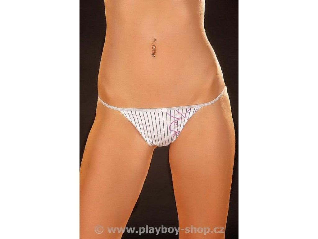 Dámská tanga Playboy s proužky