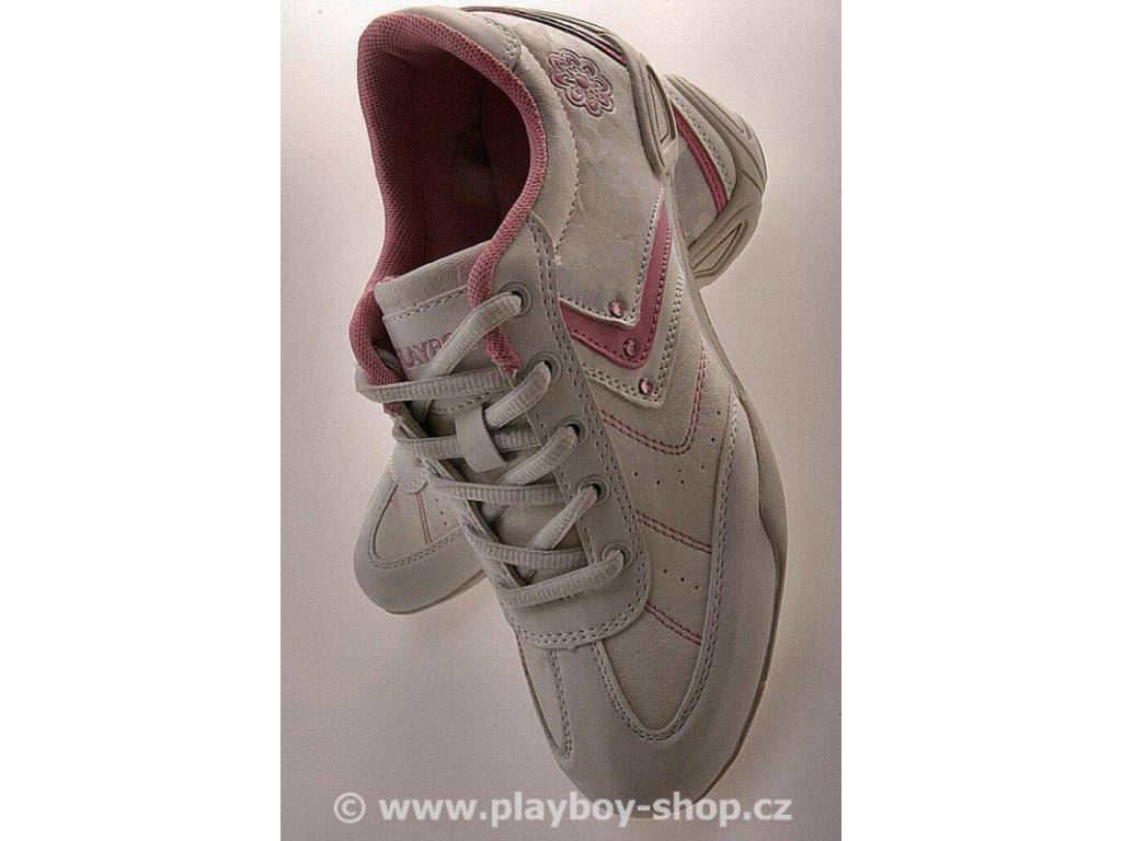 Dámské boty Playboy růžové s kytičkou