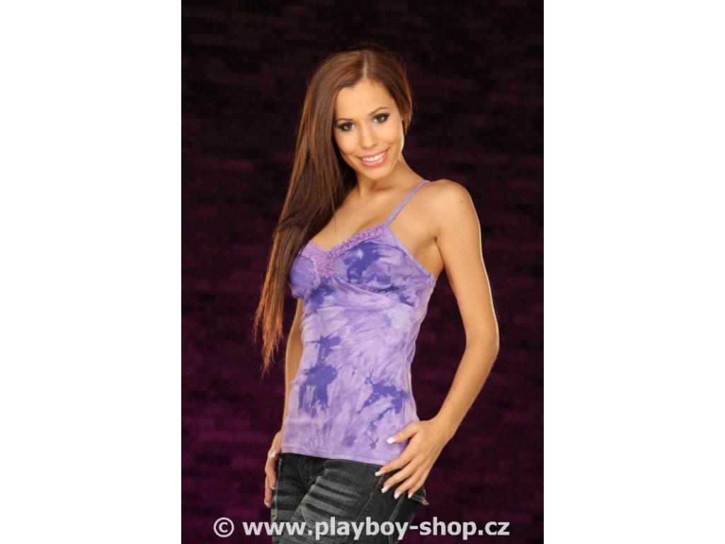 Dámské tílko Playboy na ramínka s krajkou