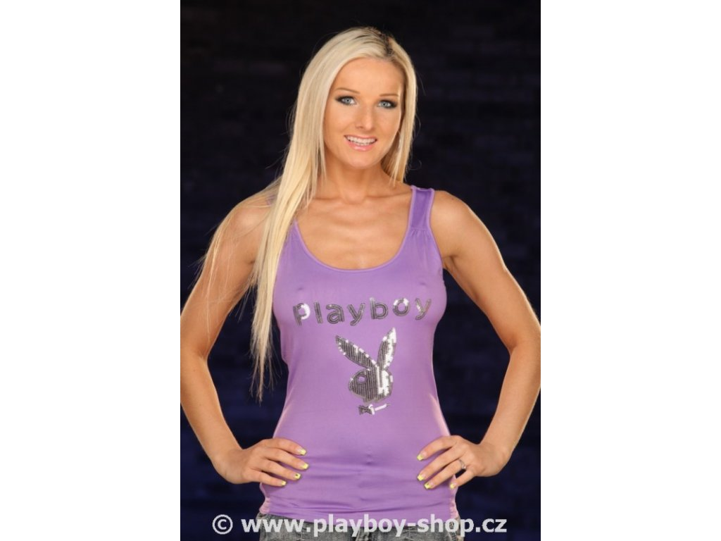 Dámské tílko Playboy s flitry