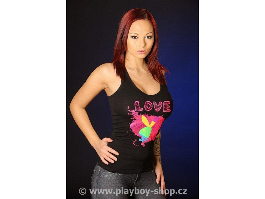 Dámské tílko Playboy s nápisem LOVE