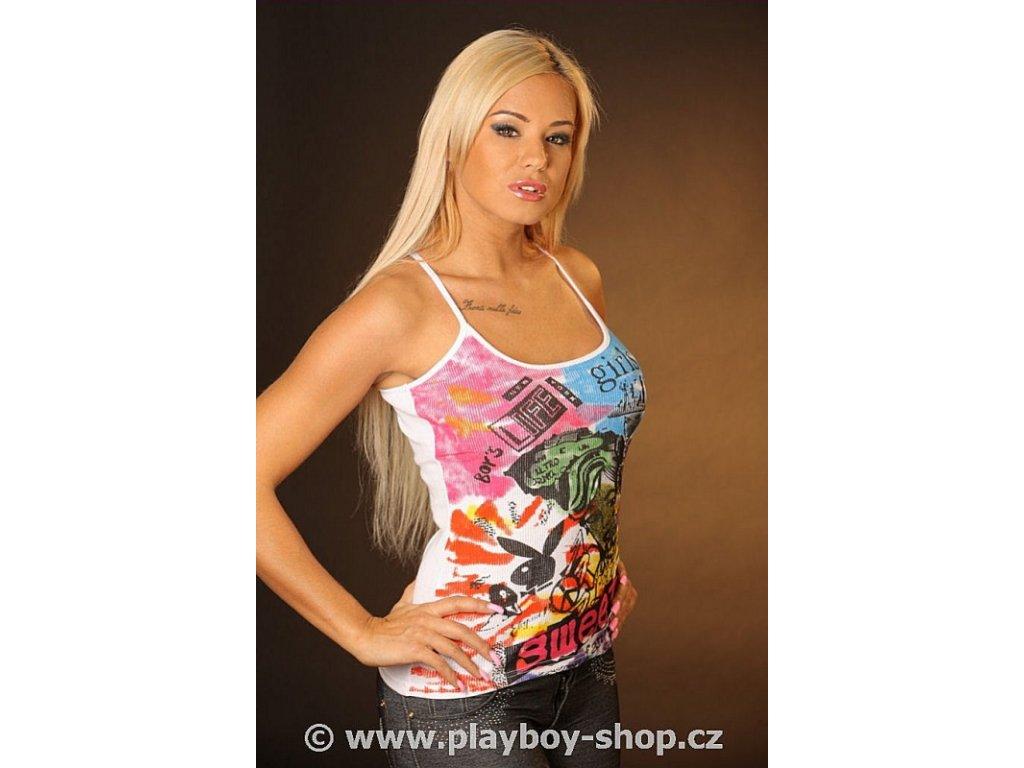 Dámské tílko Playboy žebrované