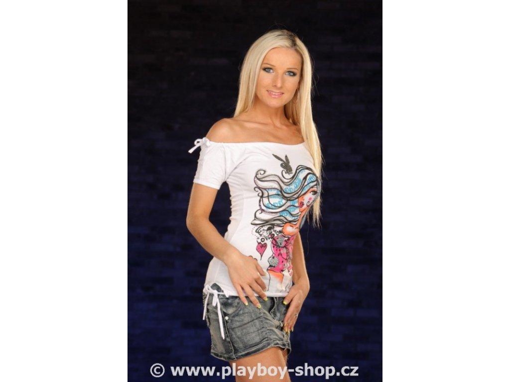 Dámské tričko Playboy s motivem krásky