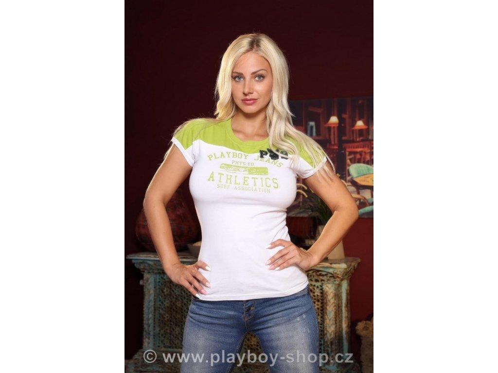 Dámské zelené tričko Playboy jeans