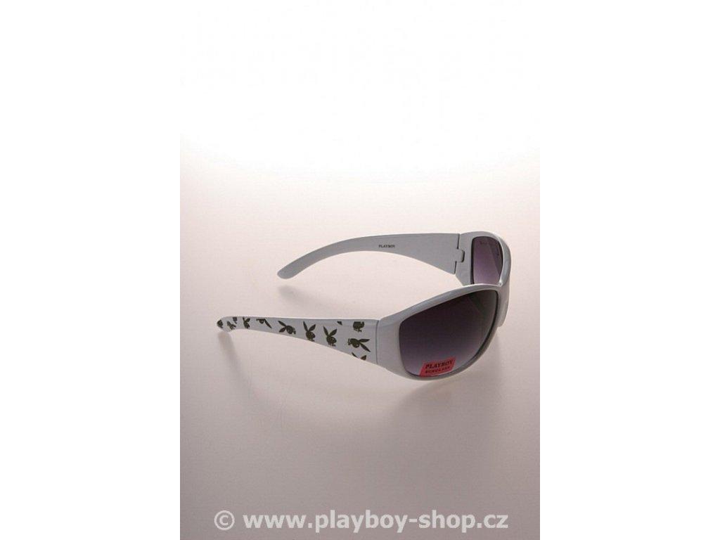 Klasické brýle Playboy bílé