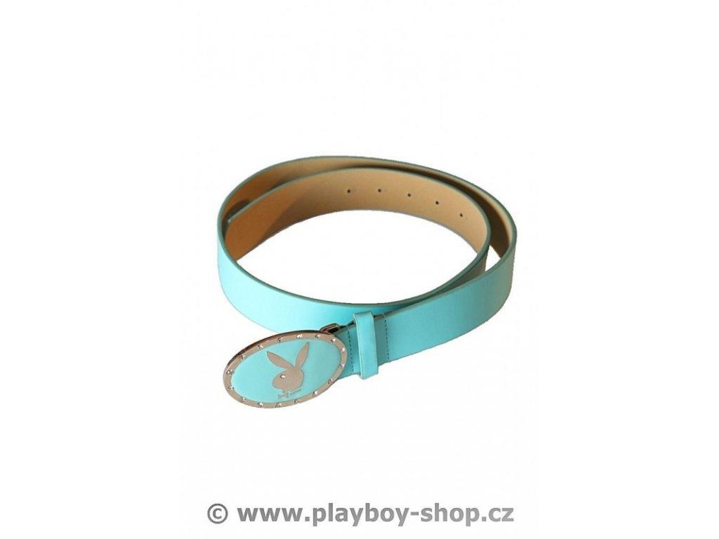 Modrý pásek se sponou s kamínky