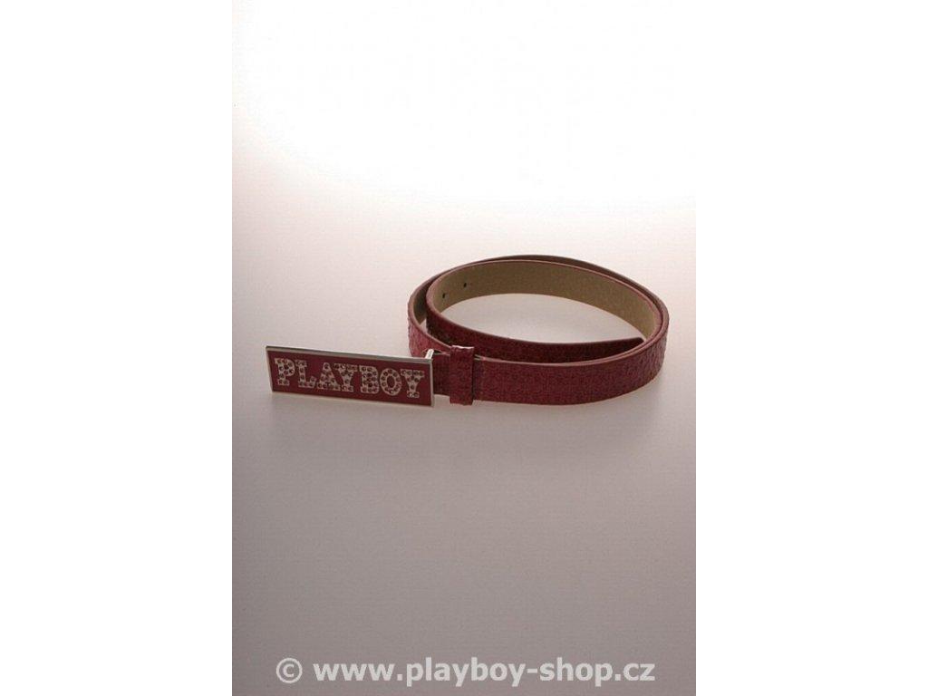 Pásek růžový s růžovým kamínkovým nápisem Playboy