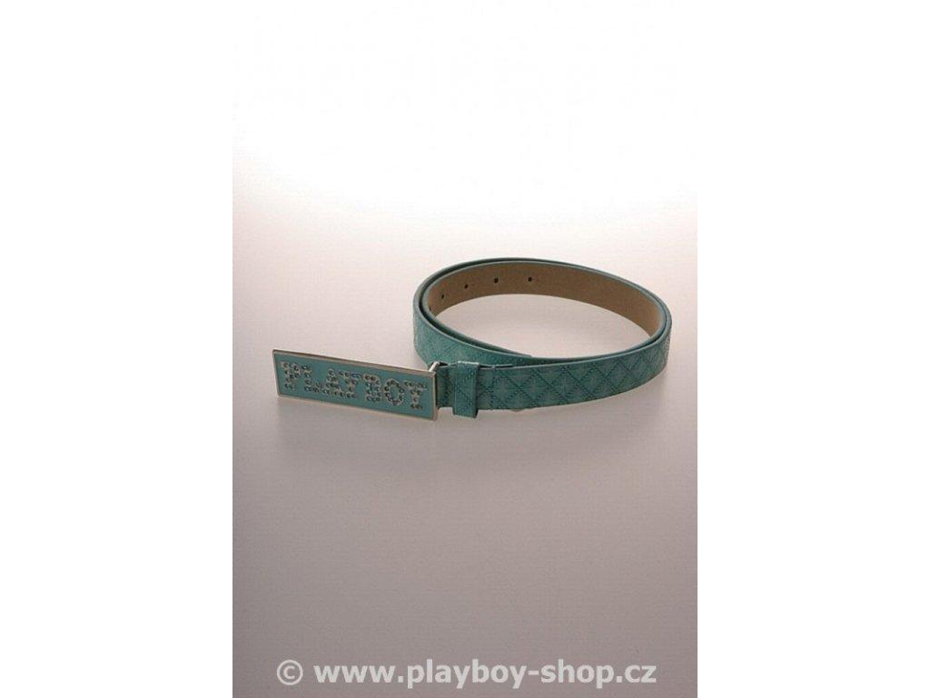 Pásek tyrkysový s kamínkovým nápisem Playboy