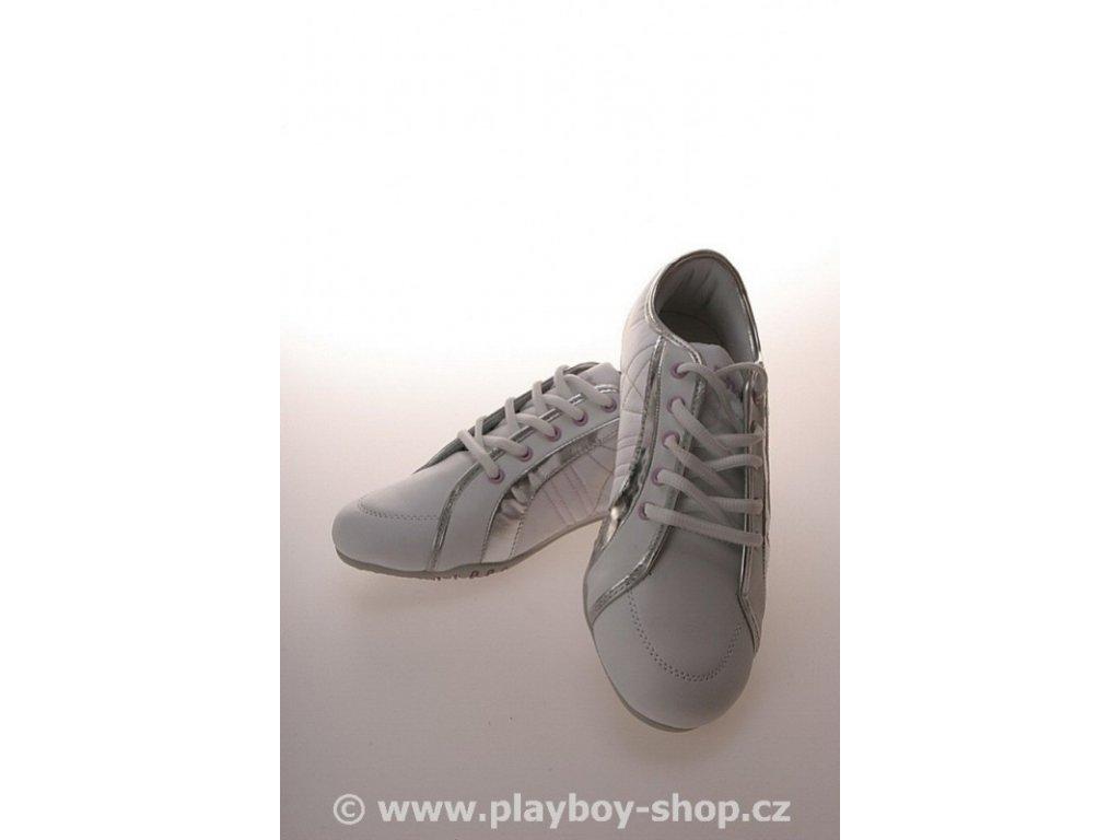 Playboy boty fialové s malým vyšitým zajíčkem