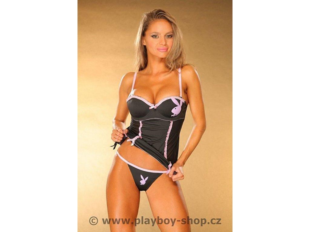 Playboy košilka s podvazky