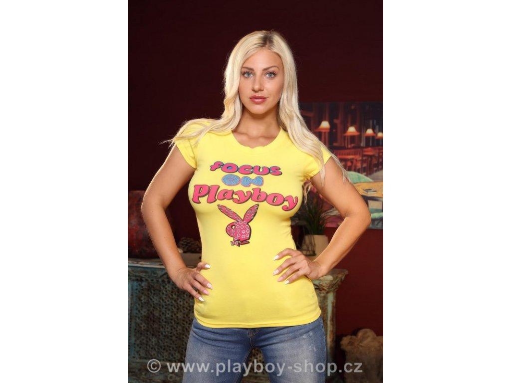 Playboy tričko - Focus on Playboy