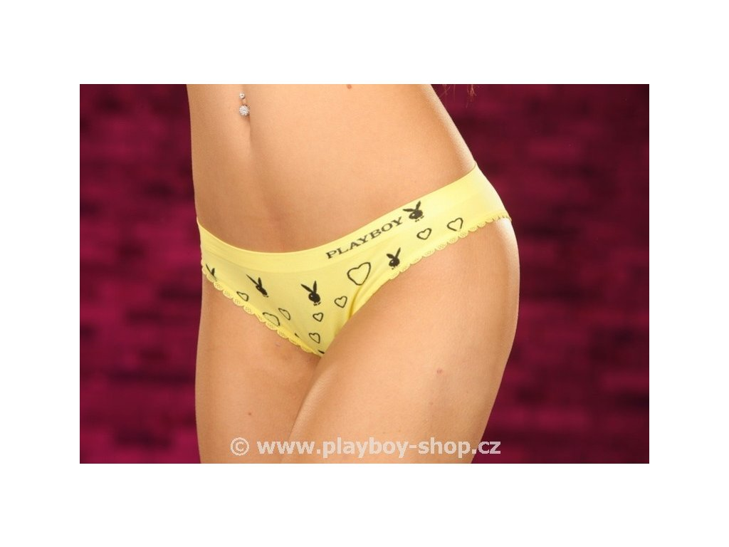 Překrásné kalhotky Playboy se zajíčky a srdíčky