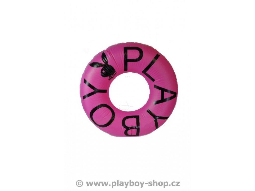 Růžový nafukovací kruh