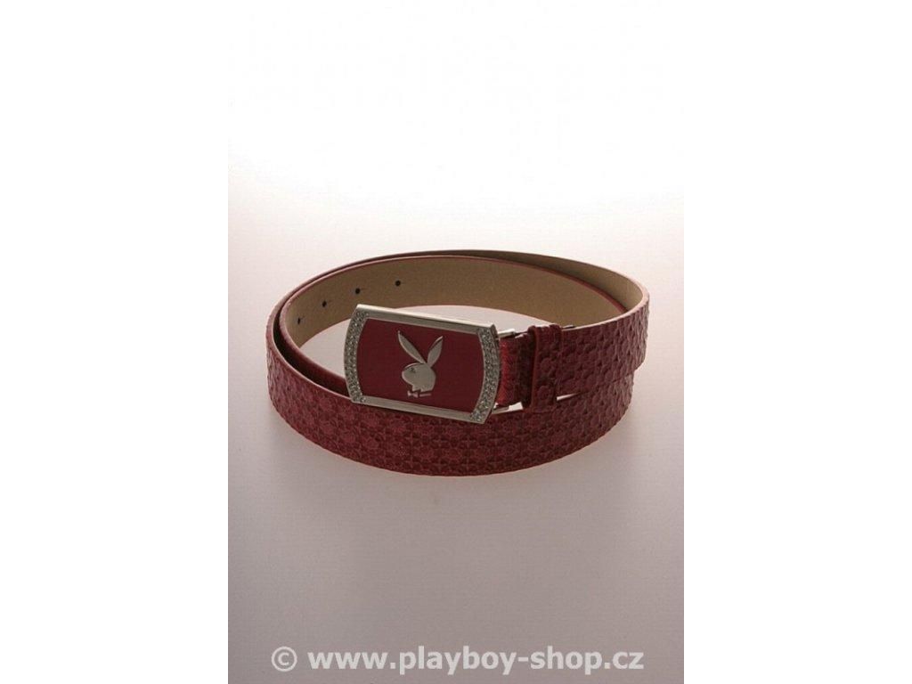 Růžový pásek s růžovou sponou s kamínky