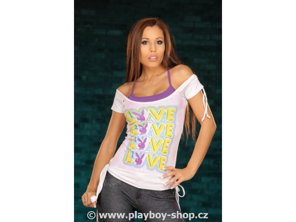 Sexy dámské tričko Playboy Love