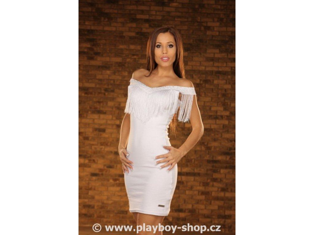 Sexy šaty Playboy s třásněmi