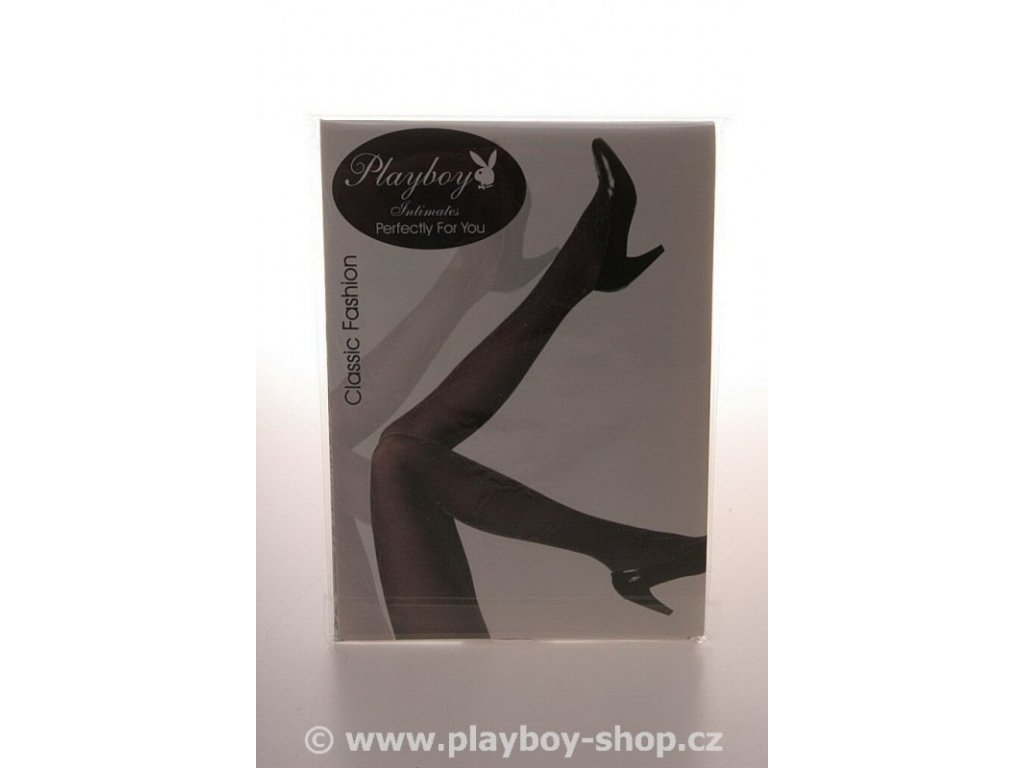 Silonky Playboy protkané stříbrnou nitkou
