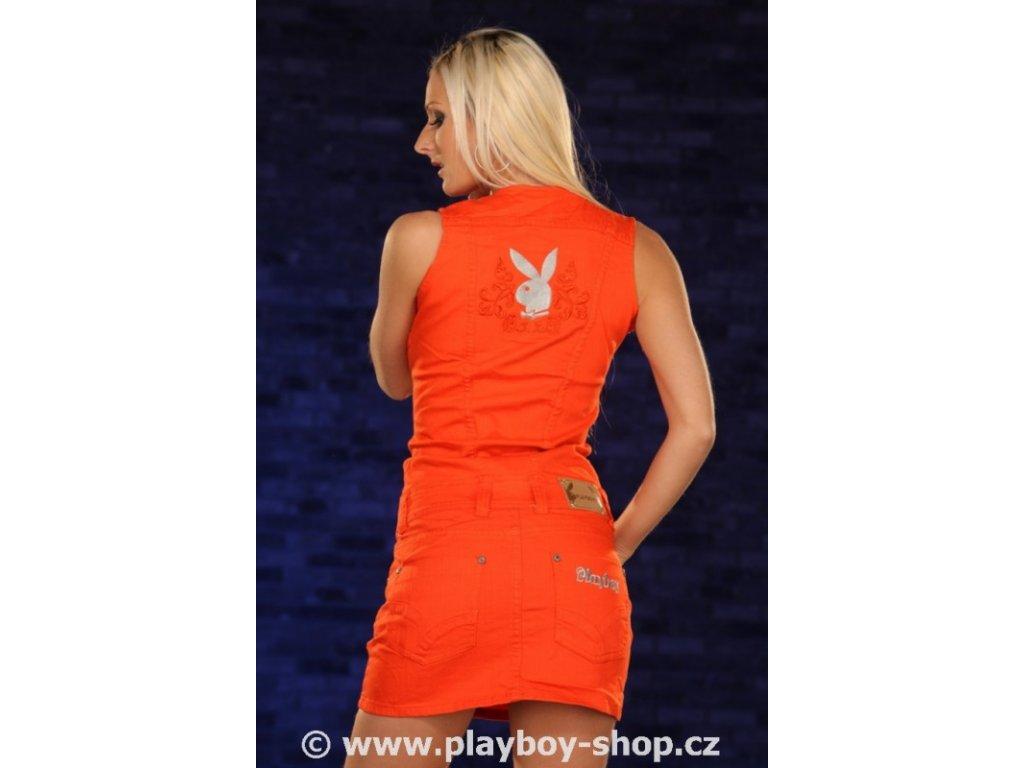 Šaty Playboy s knoflíky vpředu