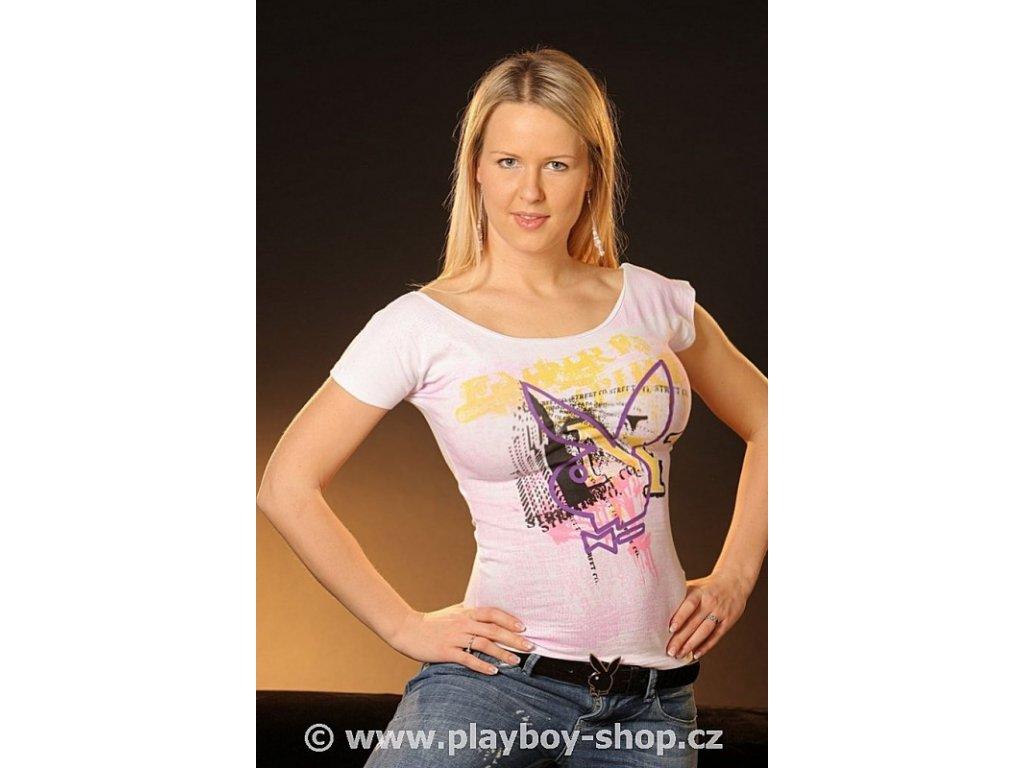 Tričko Playboy se zajícem a sexy zády