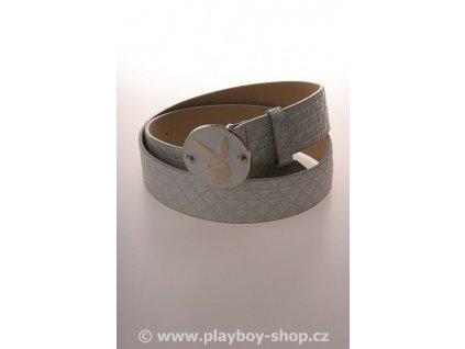 Bílý perleťový pásek s kulatou sponou