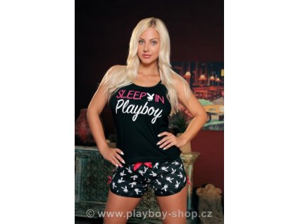 Černé pyžamo Sleep in Playboy