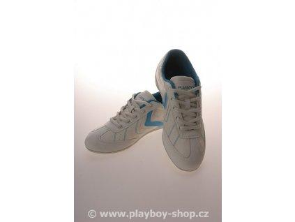 Dámské boty Playboy tyrkysové s kytičkou