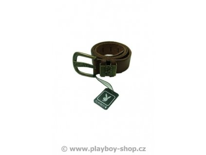 Pánský pásek Playboy kožený hnědý