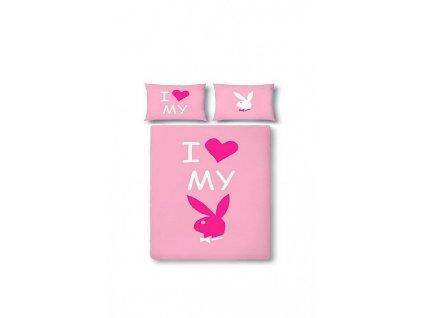 """Růžové ložní povlečení """"I love my Bunny"""""""