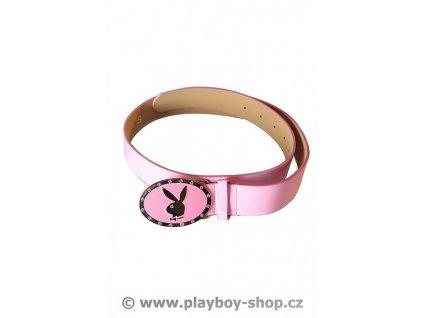 Růžový pásek se sponou s kamínky