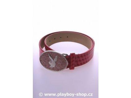 Růžový pásek se sponou s růžovými kamínky
