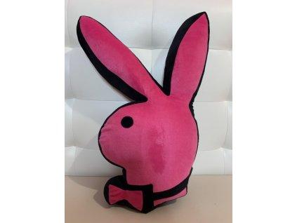 Růžový polštář ve tvaru zajíčka