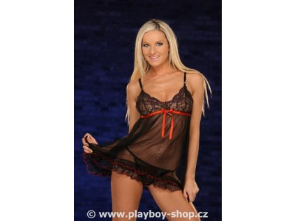 Souprava Playboy s krajkou a ozdobným lemem