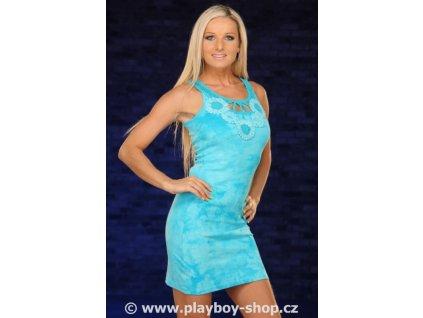 Šaty Playboy s ozdobným výstřihem