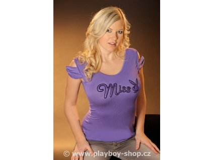 Tričko s nápisem Miss a zajíčkem