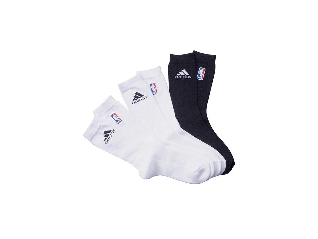 NBA SOCK 3pp white/black
