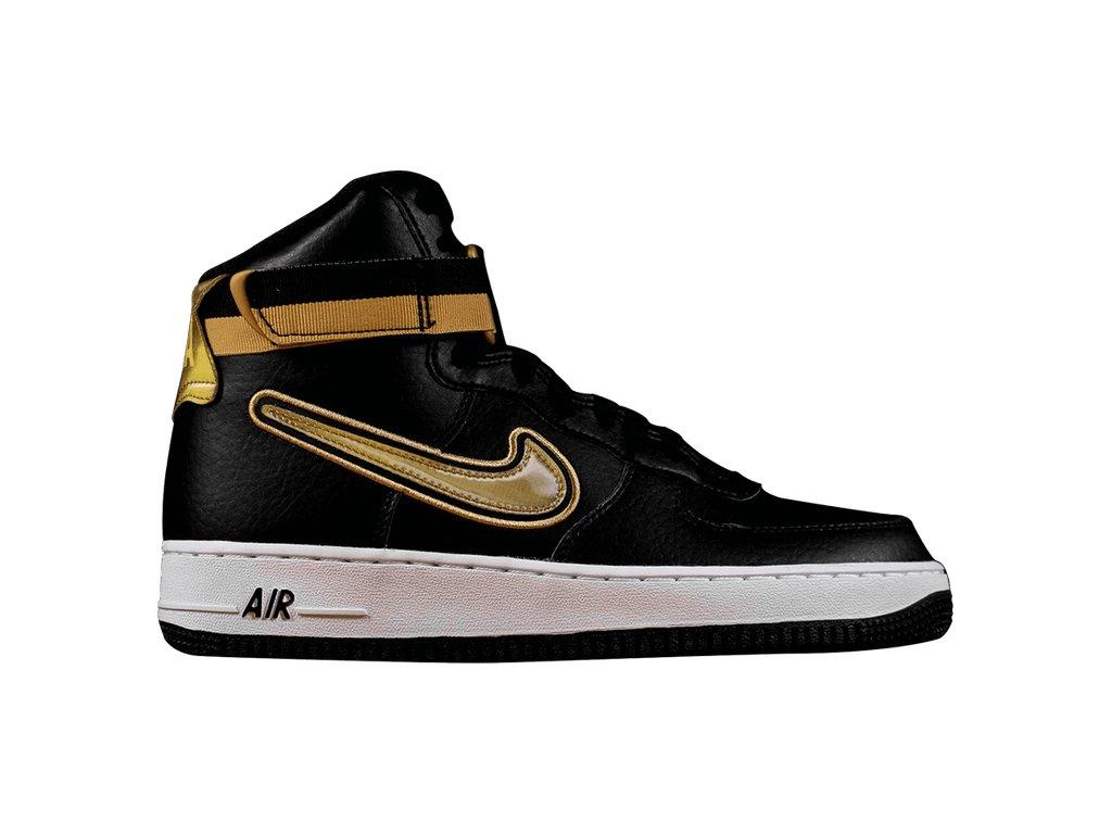 Nike Air Force 1 High NBA Black Metallic Gold