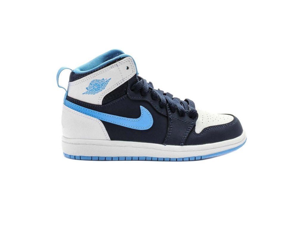 Air Jordan 1 High Preschool Lifestyle Shoe (Blue/White)