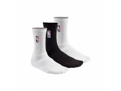 NBA Socks, 3 Pairs white/white/black