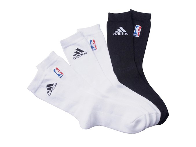 NBA SOCK 3pp white/black