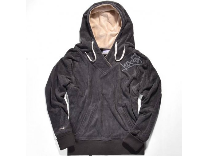 shorty snap crack le snug hoody
